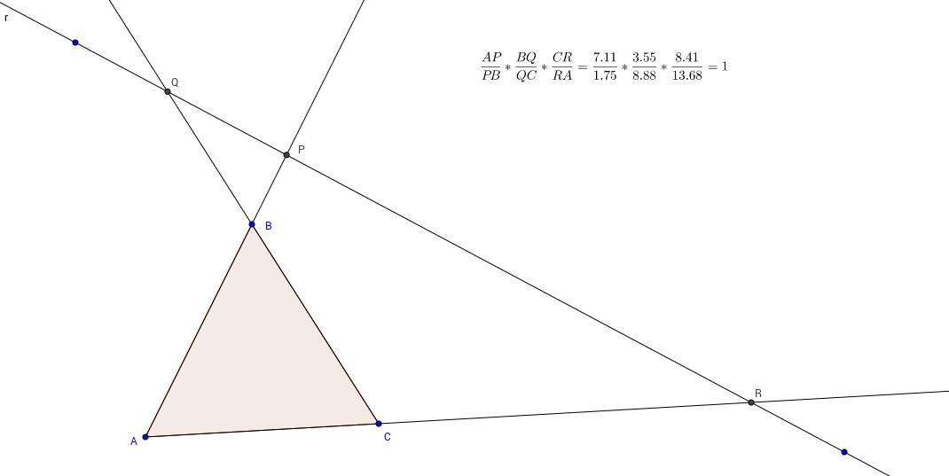 Teorema de Menelao