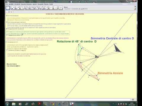Studio delle trasformazioni geometriche con GeoGebra