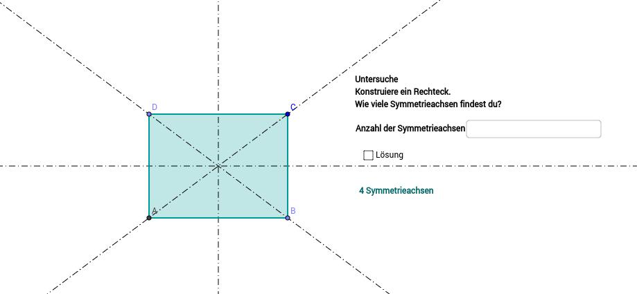 Symmetrie Rechteck