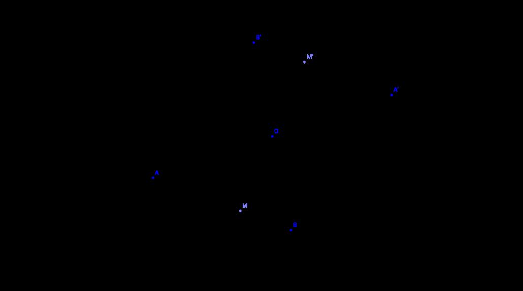Symétrique d'une demi-droite par rapport à un point