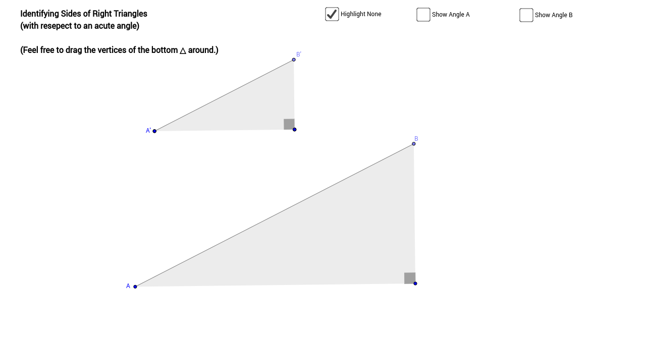 Right Triangle Trigonometry - GeoGebraBook