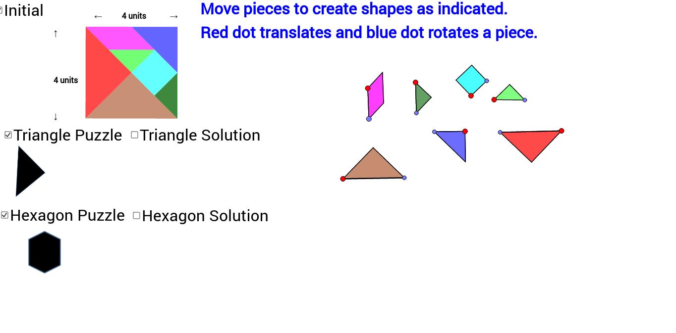 Tangram: Triangle and Hexagon