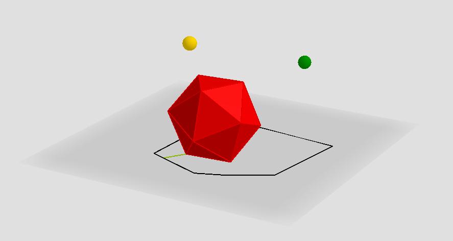 Shadow of an icosahedron