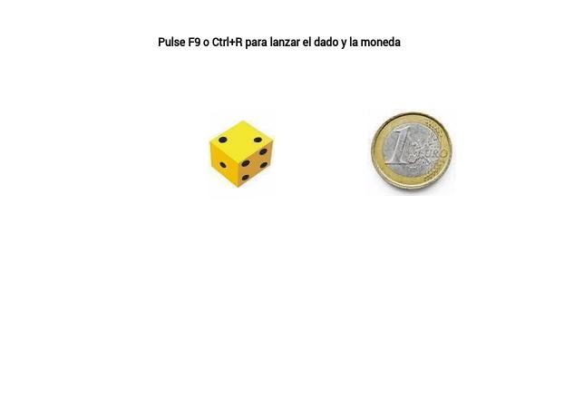 Simular el lanzamiento de una moneda y un dado