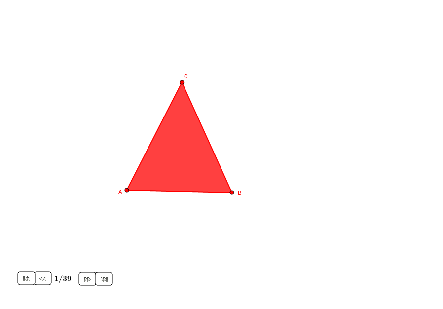 Tres círculos tangentes en un triángulo isósceles