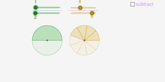 subtraction of proper fractions