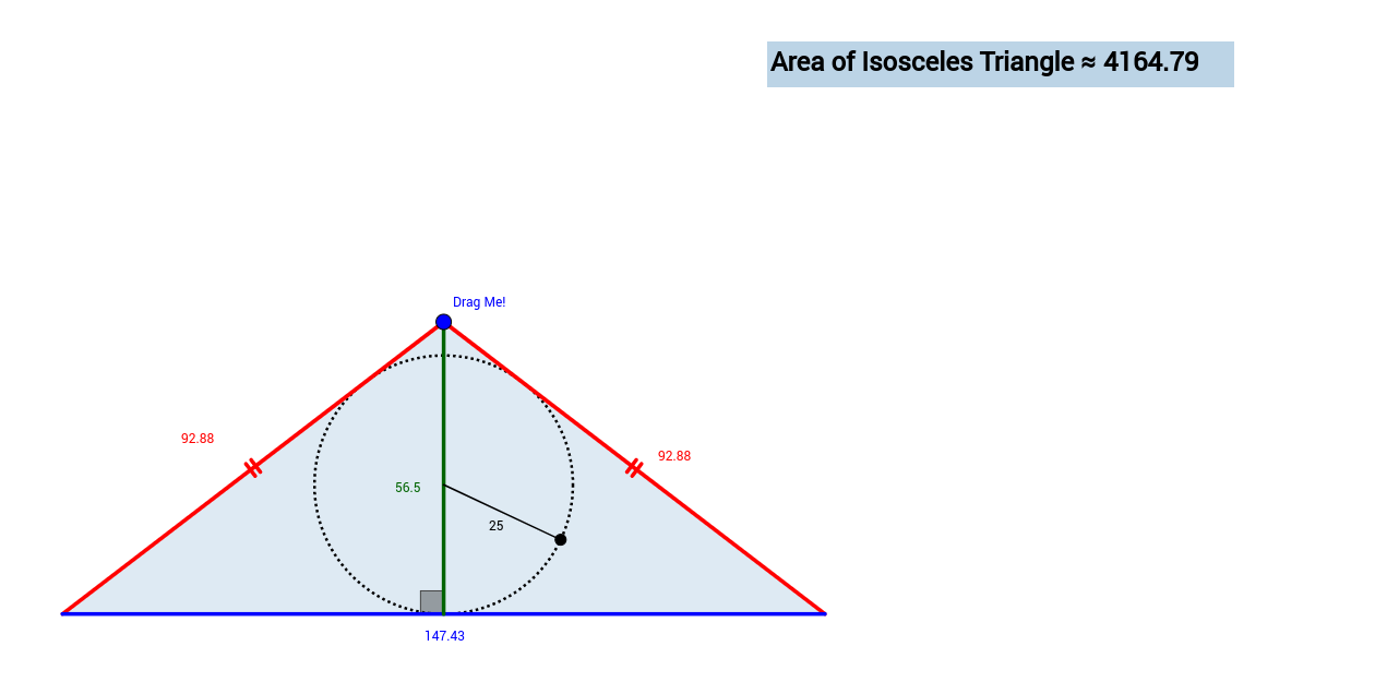 Optimization Problem Isosceles Triangle Circumscribed about a – Isosceles Triangles Worksheet