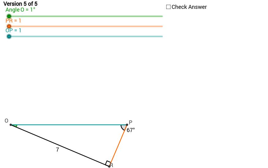 Solving Right Triangles Quiz