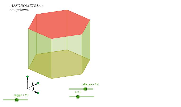 Assonometria di un prisma