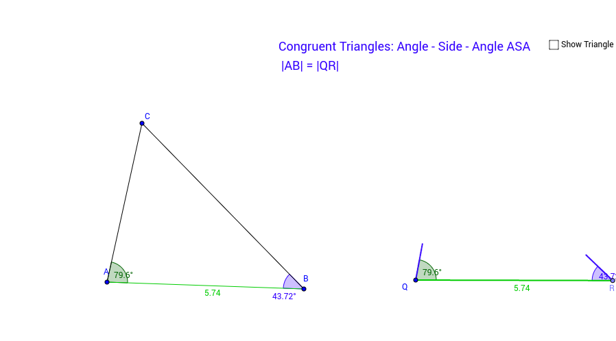 Congruency Test Angle-Side-Angle