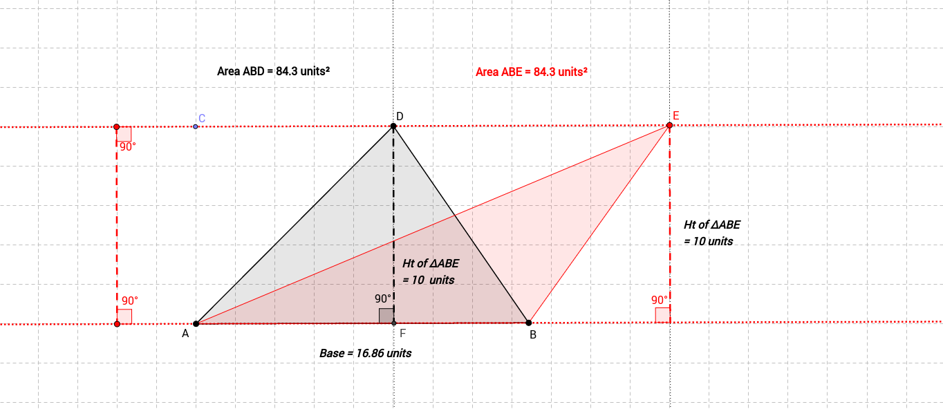 Copy of Area of Triangles with same base and same height