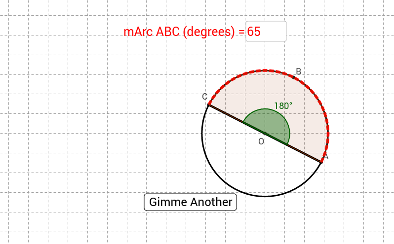 Given a central angle find measure of arc GeoGebra – Central Angle Worksheet
