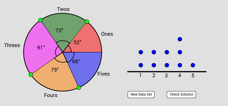 AQR Section 16: Matching a Pie Chart to a Dot Plot