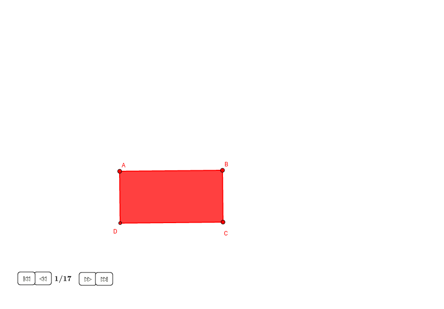 Cuadrado igual en área que un rectángulo dado