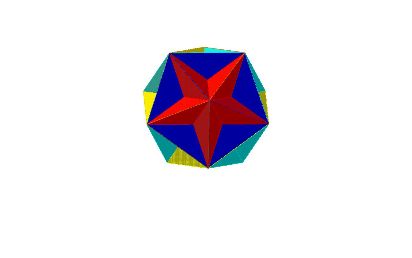 Das Grosse Dodekaeder (Sterne hervorgehoben)