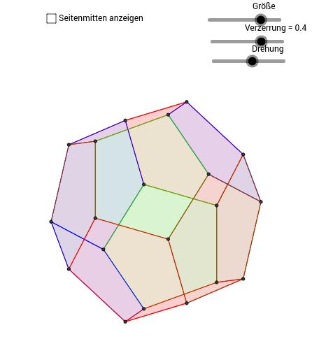 Platonische Körper: der Dodekaeder und sein Dualkörper
