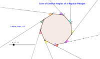 Exterior Angles of a Regular Polygon Demonstration
