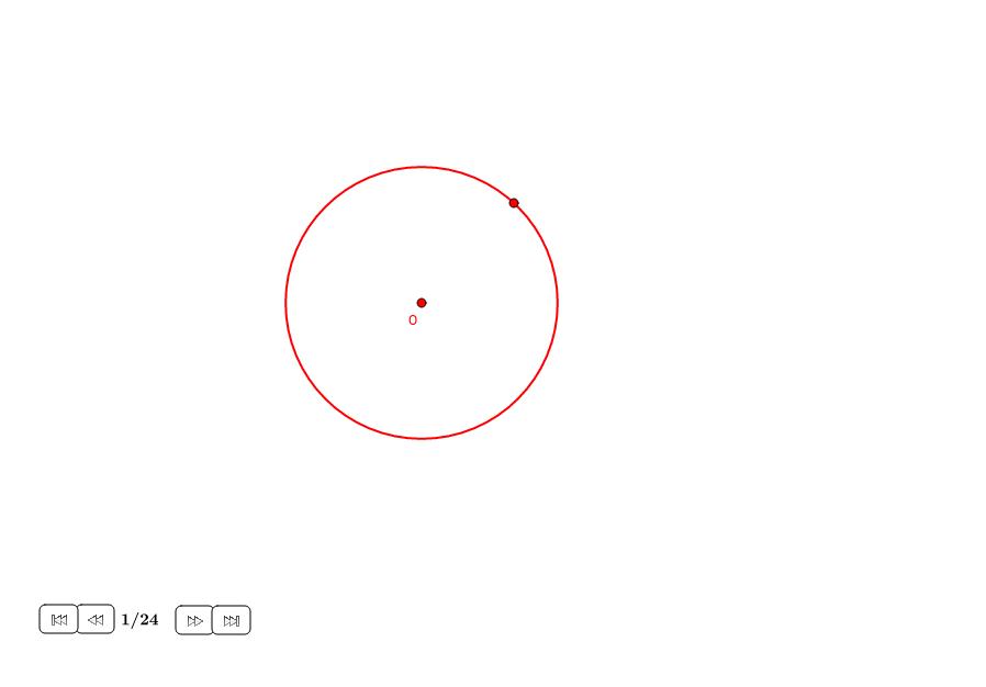 Endecágono aproximado en un círculo