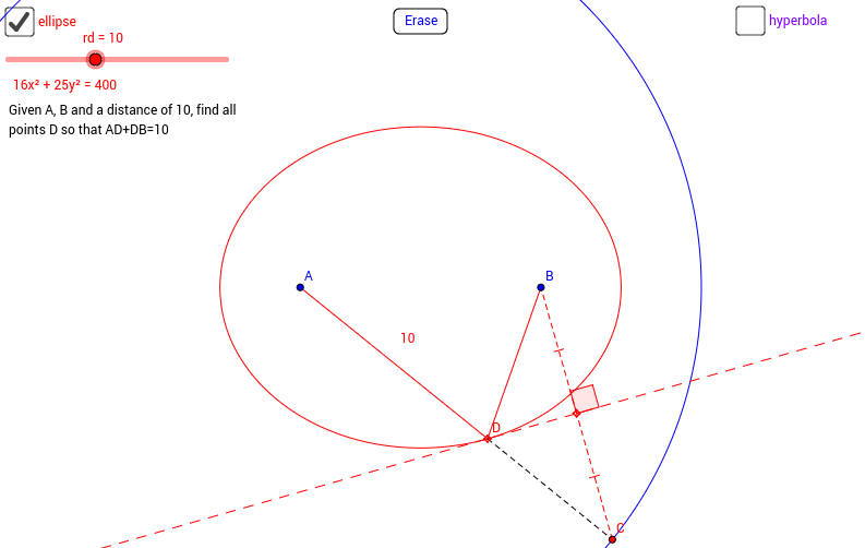 Ellipse & Hyperbola Construction by Circle