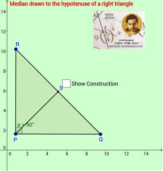 Median to hypotenuse of a right triangle hence we can conclude that in a right triangle the length of median to hypotenuse is half the length of the hypotenuse ccuart Image collections