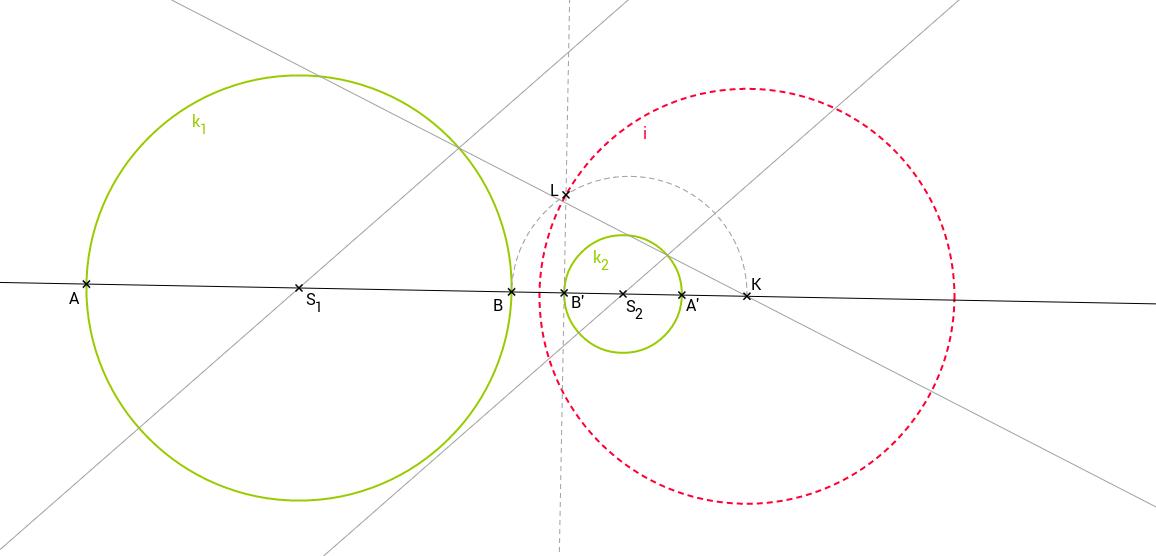 Příklad 10: Kruhová inverze, dvě kružnice