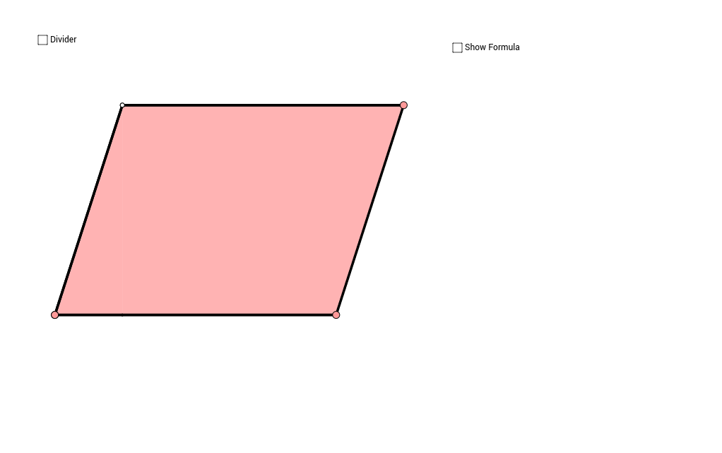 Area of a Parallelogram Demonstration