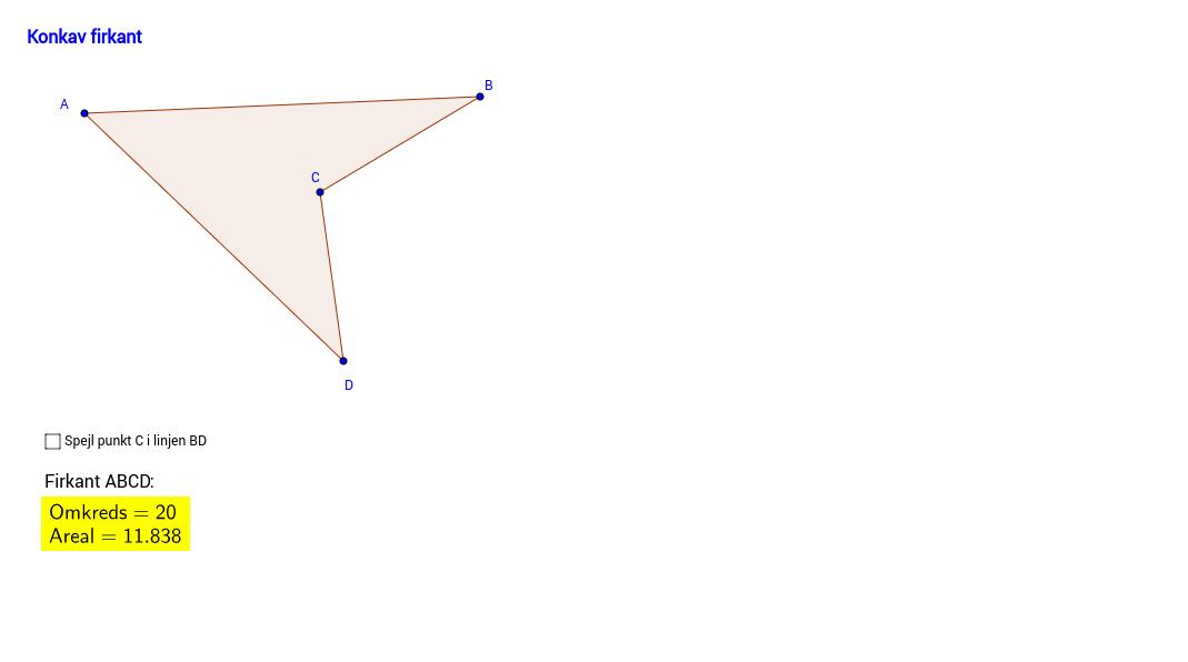 Hr. Konkav deltager i en konkurrence for firkanter