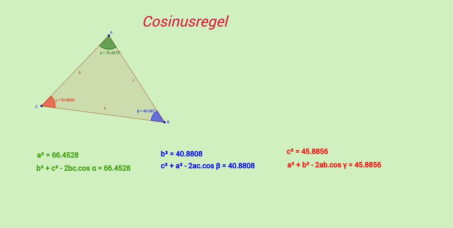 Cosinusregel