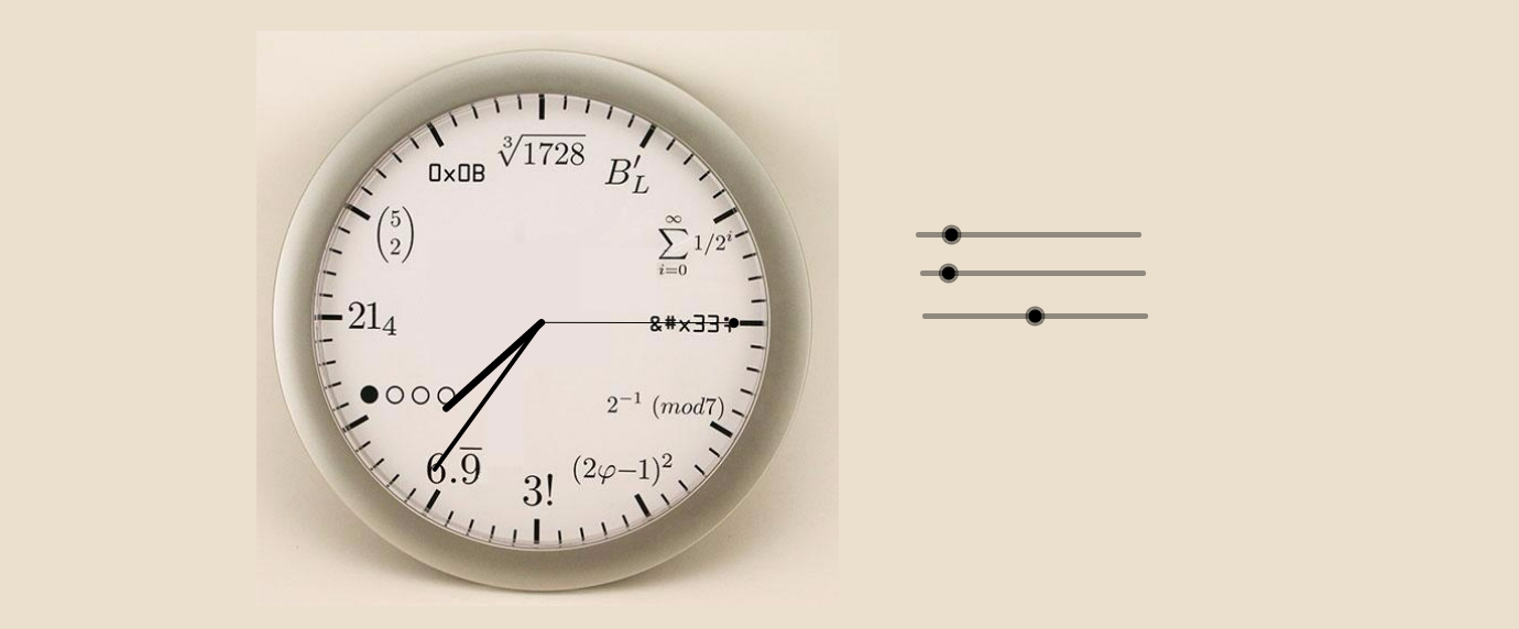 Geek analog clock