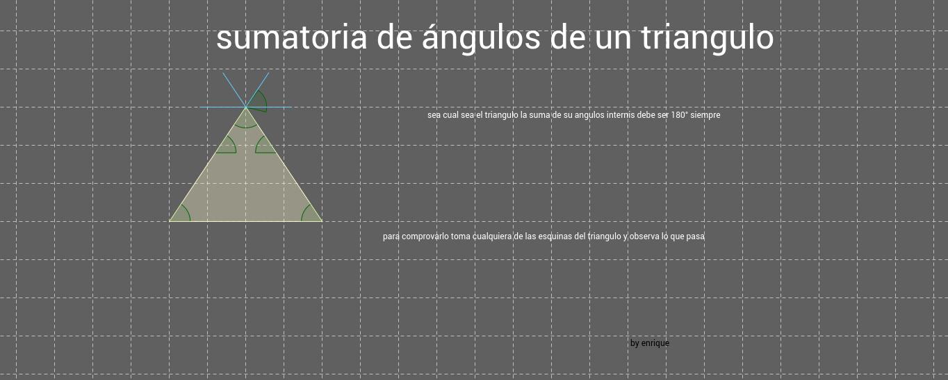 angulos internos de un triangulo