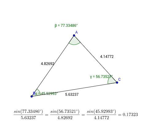 Exploring the Law of Sines