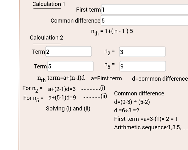 Arithmetic sequence calculator GeoGebra – Arithmetic Sequence Worksheets