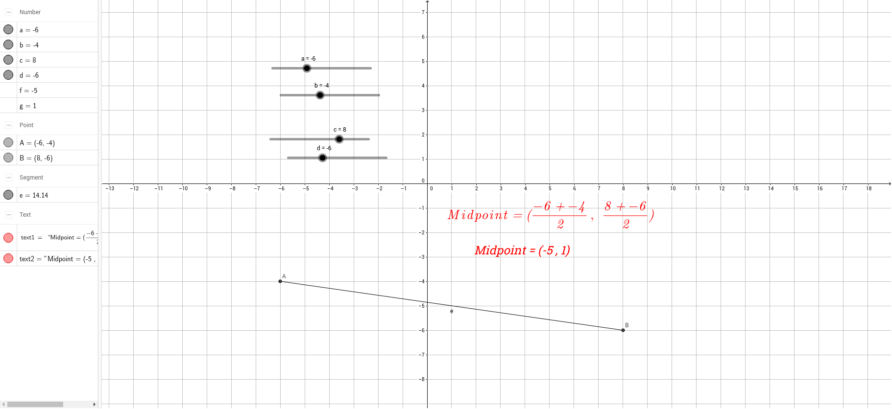 worksheet Midpoint Worksheet midpoint formula geogebra this worksheet helps students to explore the for 2 points in coordinate plane