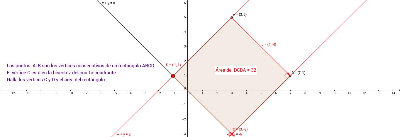Ejercicio 34. Geometría en el plano