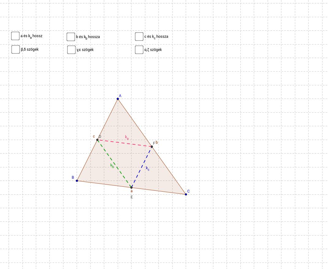 Háromszög középvonalai