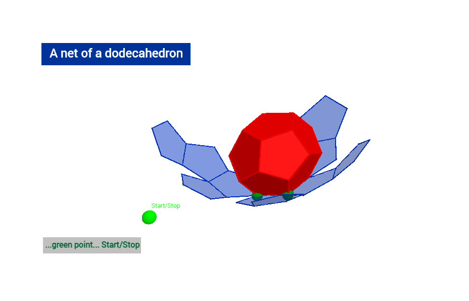 A net of dodecahedron