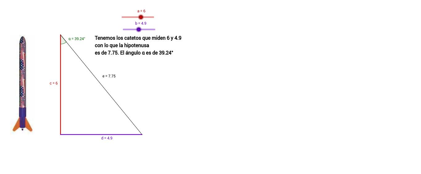 Solucionar triángulos rectángulos