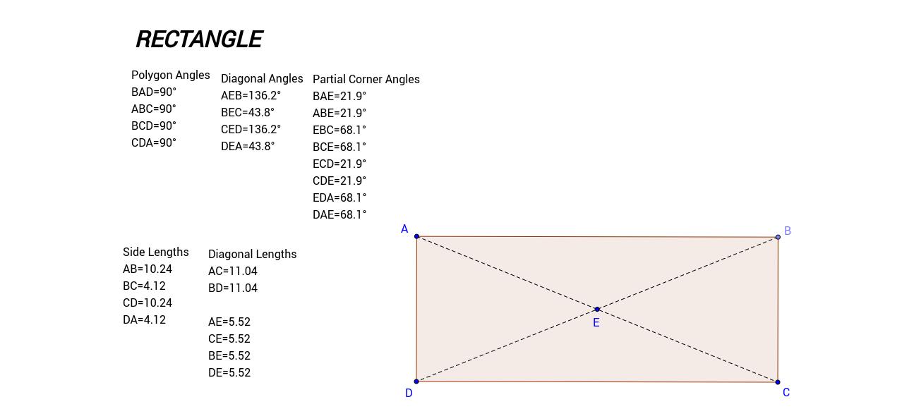 Rectangle - measurements