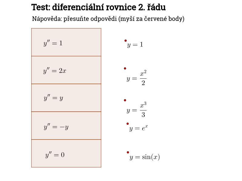 Test: dif. rov. 2. řádu