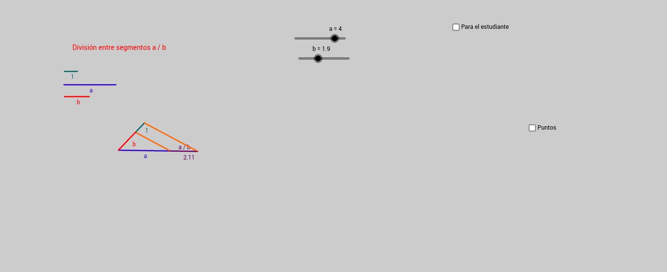 División entre dos segmentos