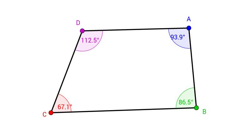 Quadrilaterals - Sum of Angles