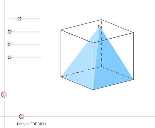 Pyramide dans un cube