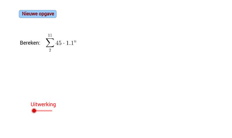 Meetkundige rij. Som van rij getallen oefening 2