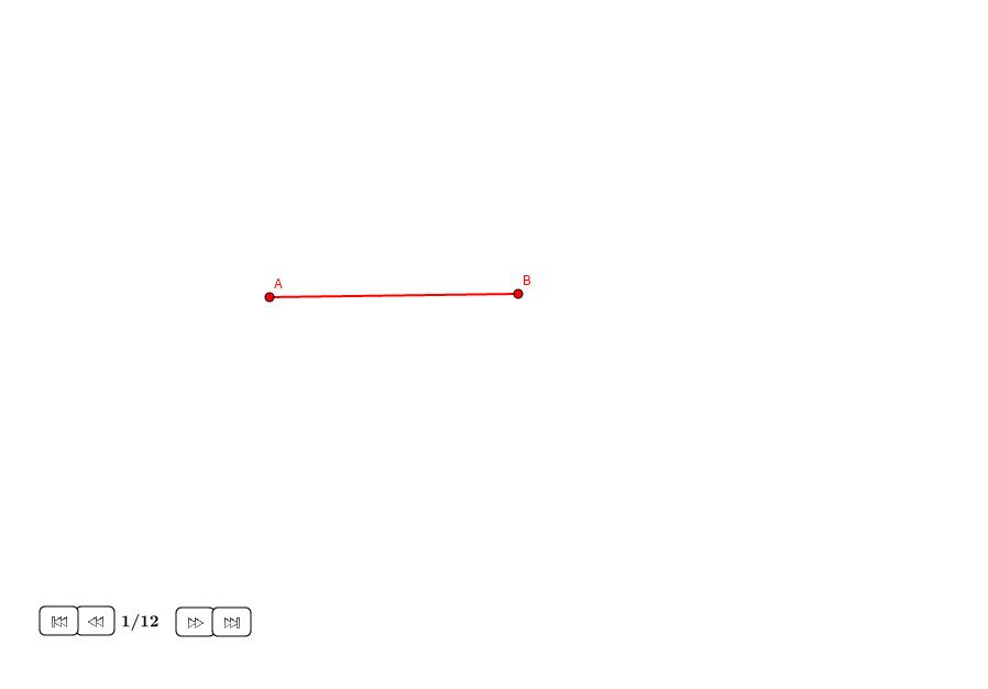 Dividir un segmento con ratio 1:sqrt(2)