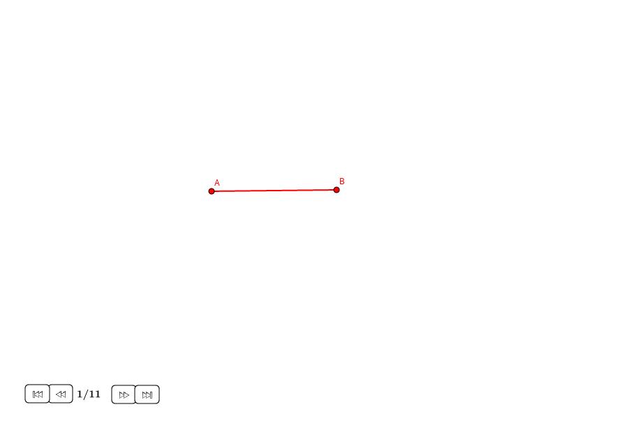 Dividir un segmento con la sección áurea