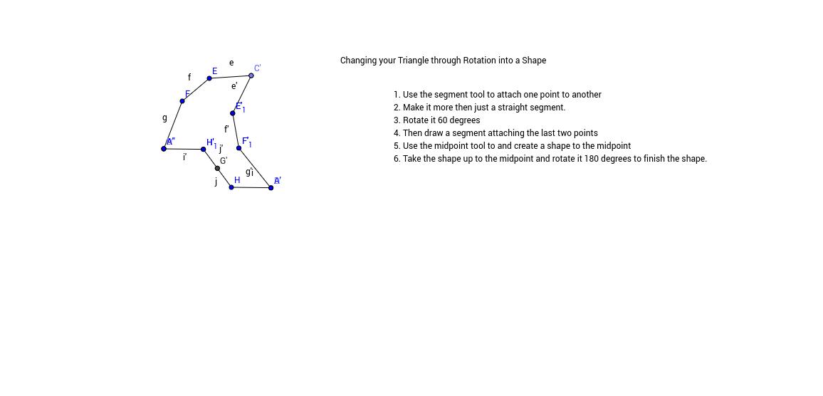 Creating a shape through Rotation