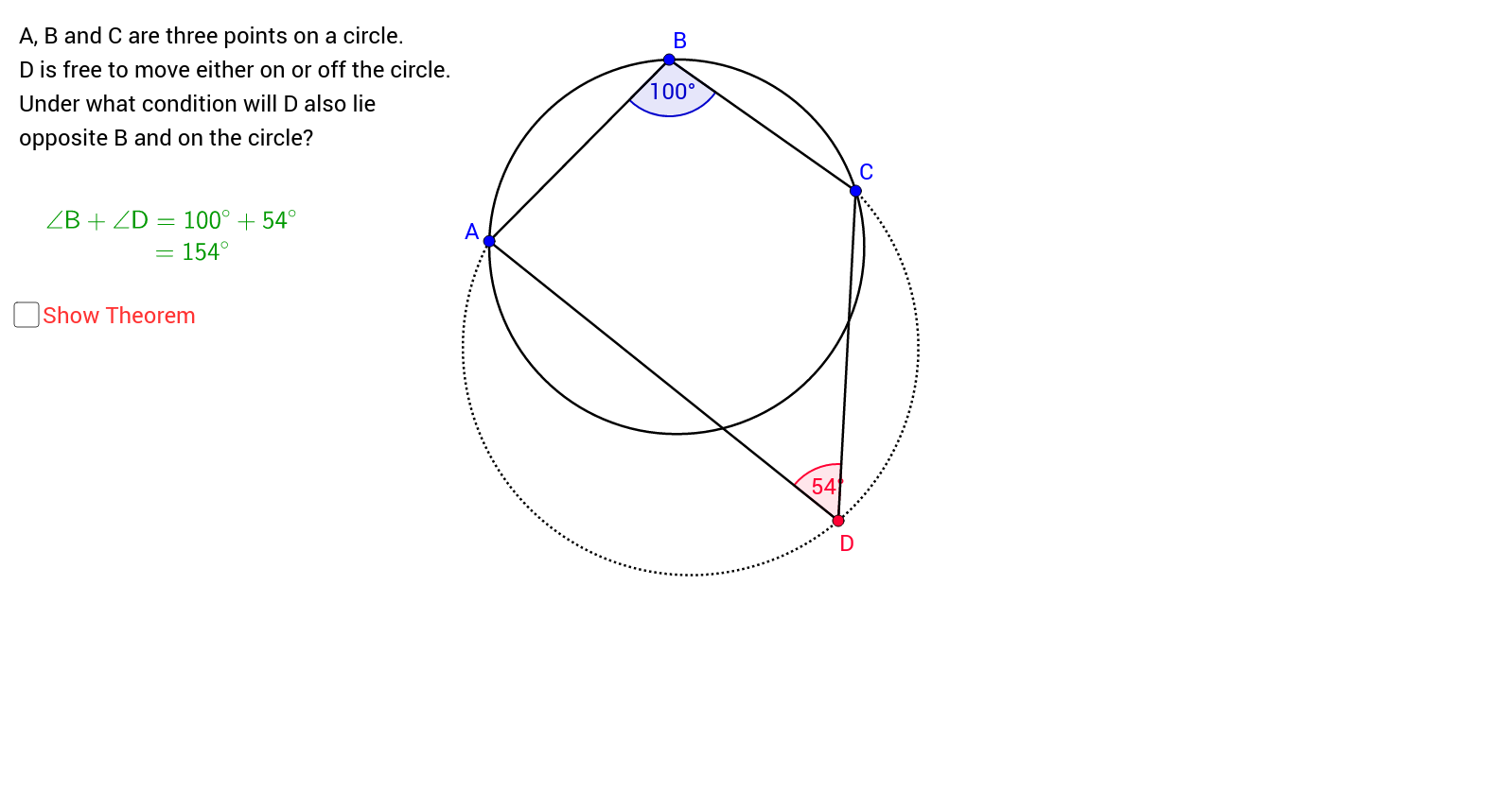 Tests for Cyclic Quadrilaterals (1)