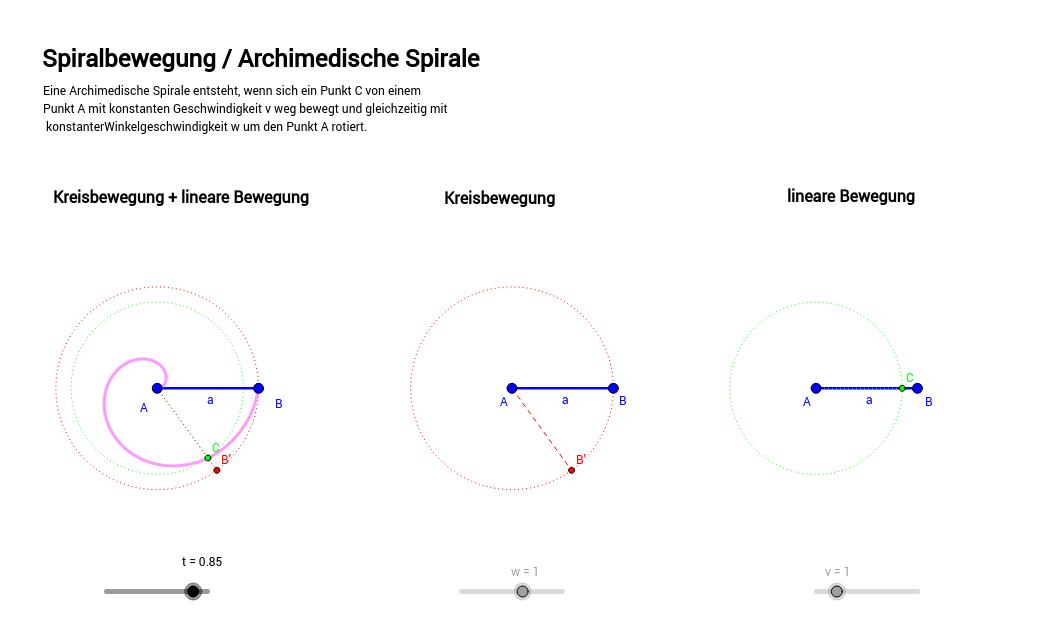 Archimedische Spirale / Spiralbewegung