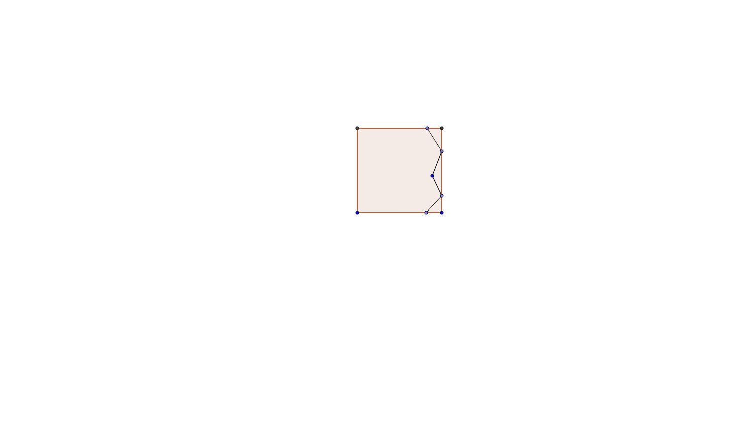 Tessellation Step 1: First side of tessellation