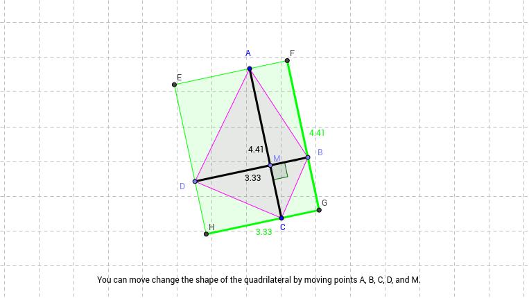 Area of quadrilateral with perpendicular diagonals geogebra area of quadrilateral with perpendicular diagonals ccuart Images